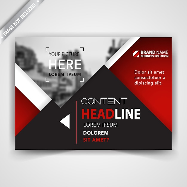 Red abstract magazine Free Vector