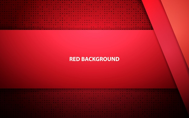 Red abstract overlap layer vector background Premium Vector