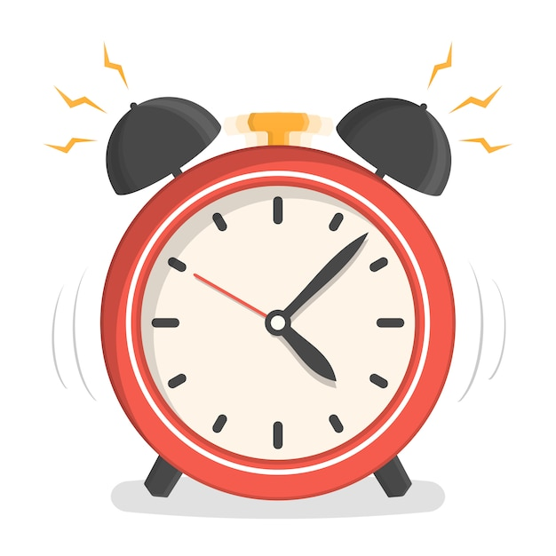 Red alarm clock Premium Vector