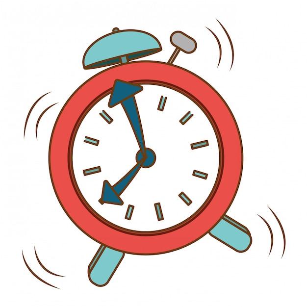 Red alarms clock icon image Premium Vector