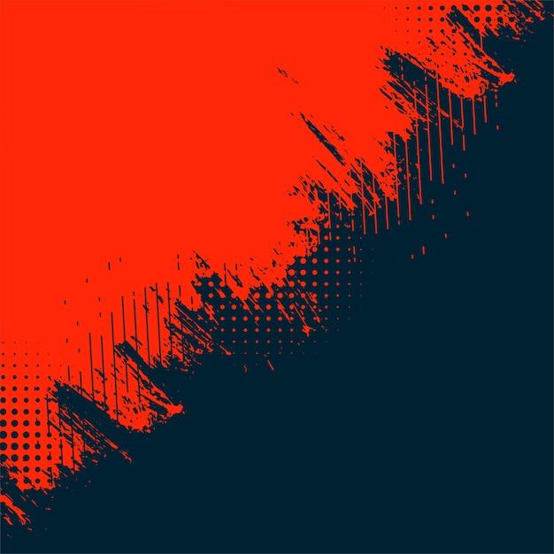 Красный и черный абстрактный гранж текстуру фона Бесплатные векторы