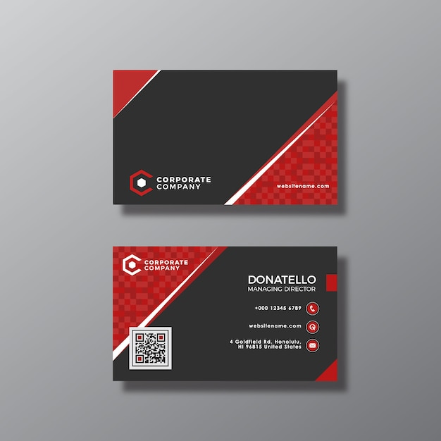 Red and black business card vector free download red and black business card free vector colourmoves