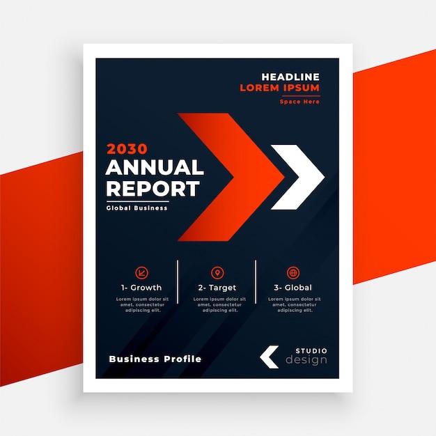 Красный и черный бизнес флаер годовой отчет шаблон Бесплатные векторы