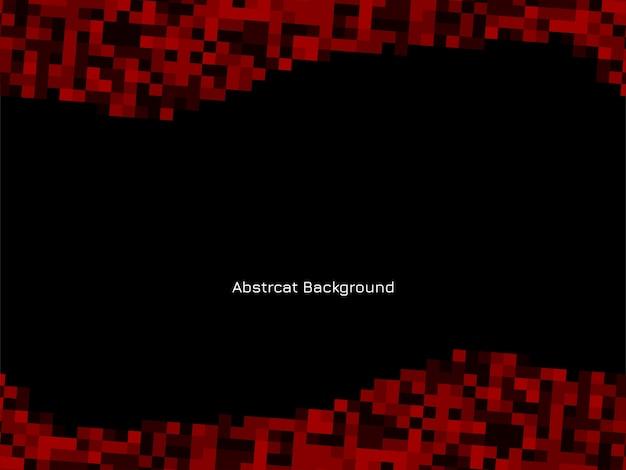 赤と黒のモザイクパターン背景 無料ベクター