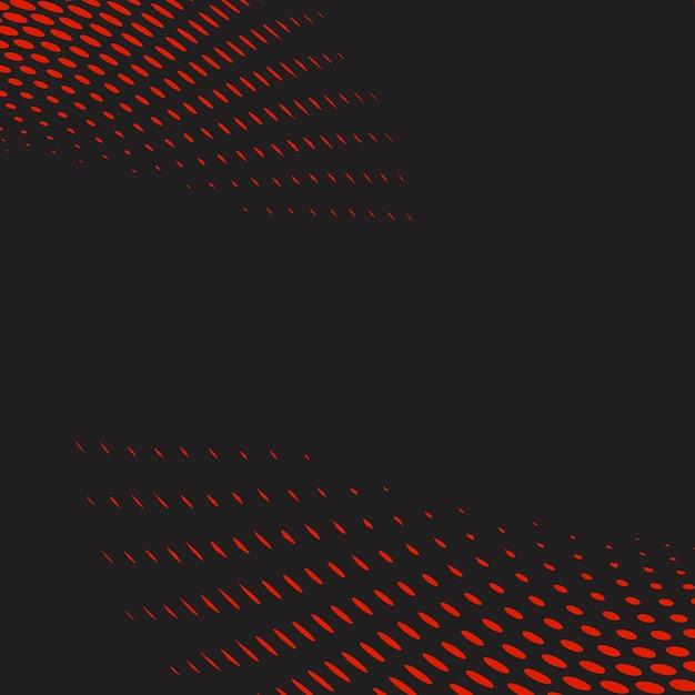 赤と黒の波状のハーフトーン背景ベクトル 無料ベクター