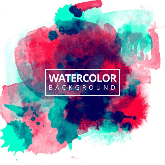 Red and blue watercolor background Free Vector