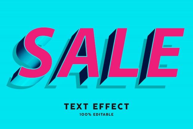 Красный и голубой синий текстовый эффект в стиле поп Premium векторы