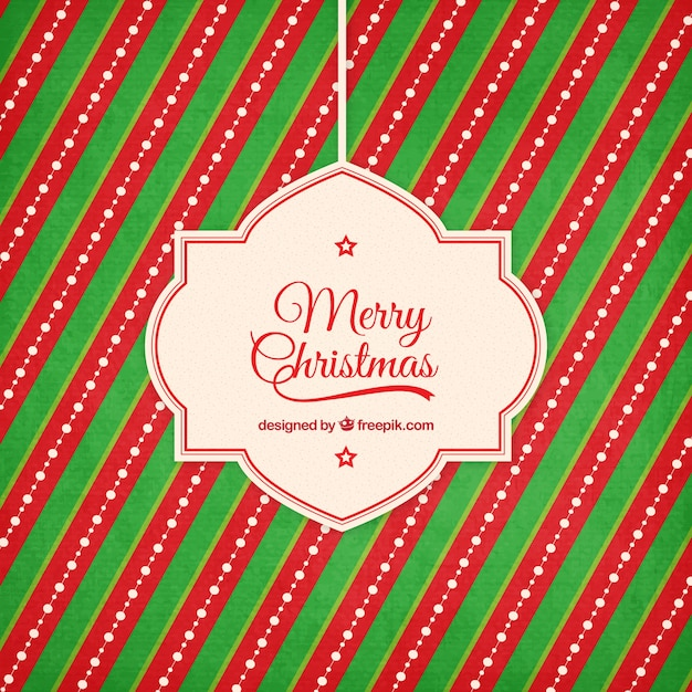 red and green stripes christmas background free vector
