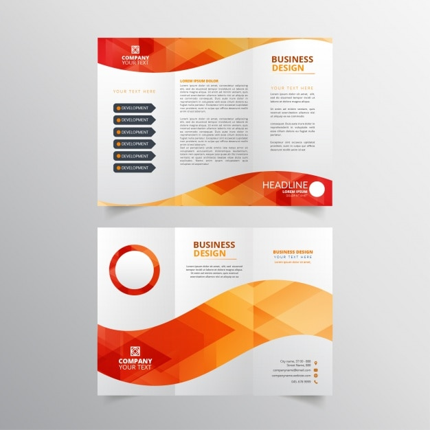 Red and orange flyer design Free Vector