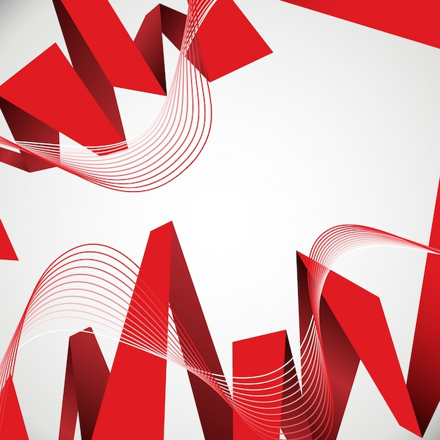 White Red Abstract Wallpaper