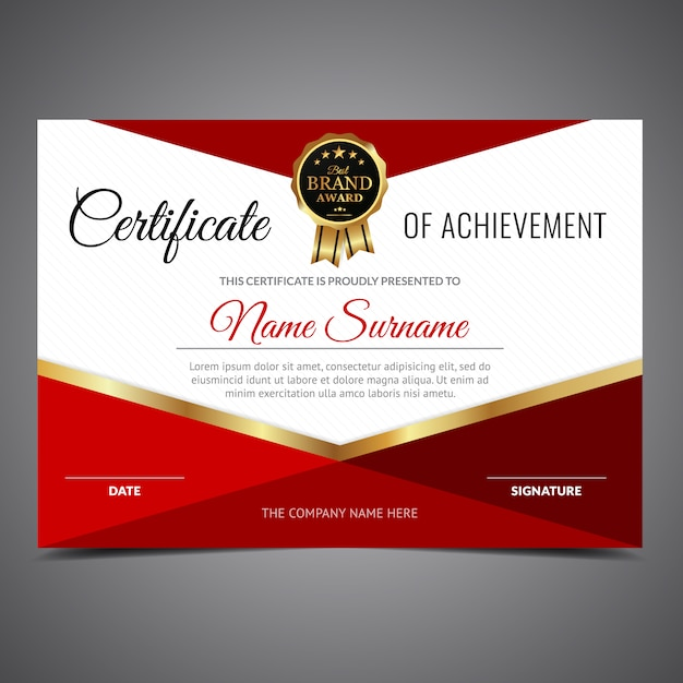 Certificate of Achievement - Download a FREE Template