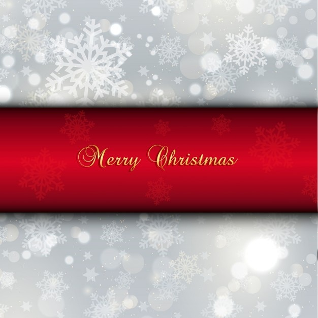 Red and white christmas background with snowflakes vector for Christmas red and white