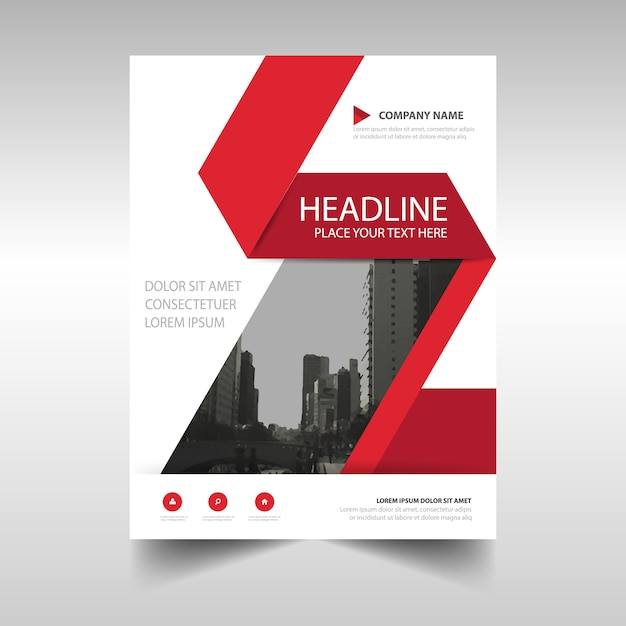 Red And White Corporate Brochure Template Vector  Free Download
