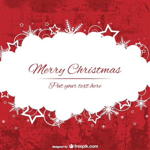 Red and white merry Christmas background template Vector | Free Download