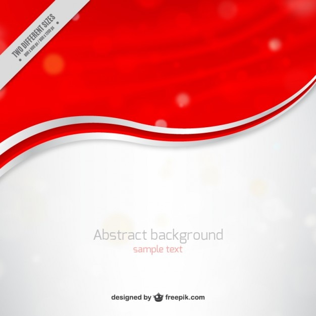 Red and white waves background Vector | Free Download