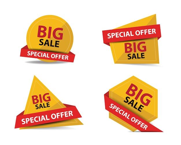 Красочный шаблон для продажи рекламы Бесплатные векторы