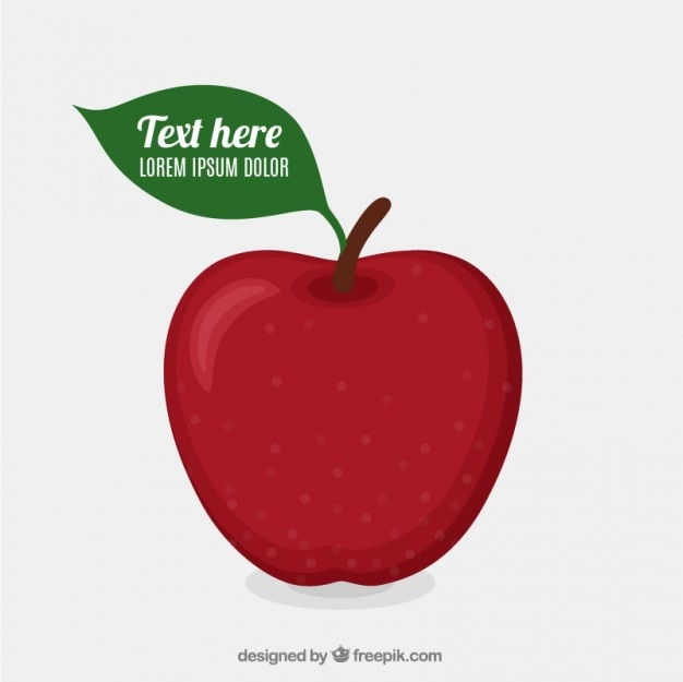 Red apple template Free Vector