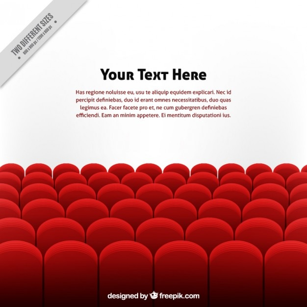 Red armchairs background template Free Vector