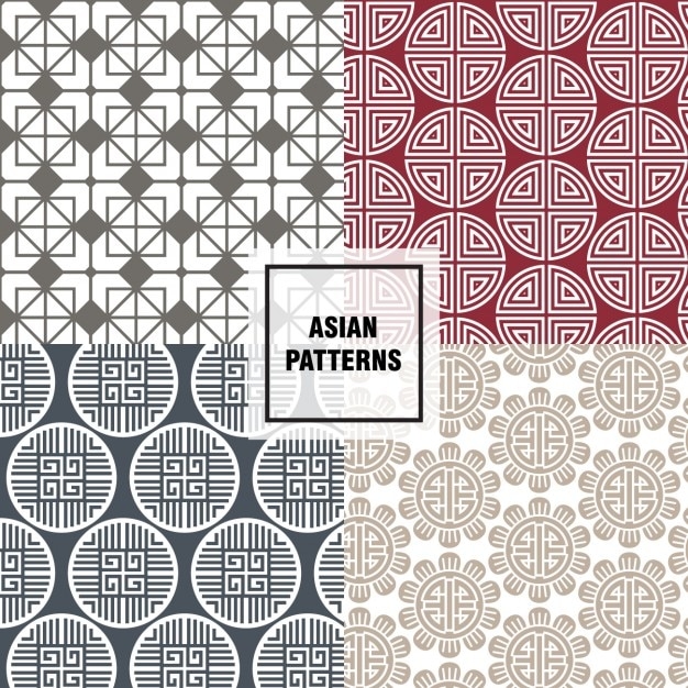 Red Asian Patterns Vector Free Download Custom Asian Patterns