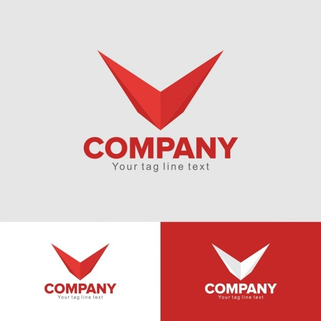 red aviation logo vector free download
