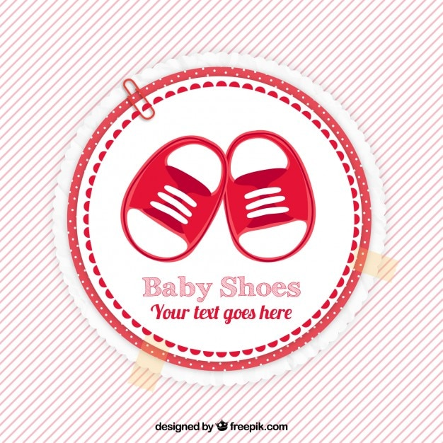 Red Baby Shower Label Vector Premium Download