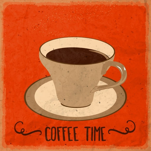 Red background about coffee