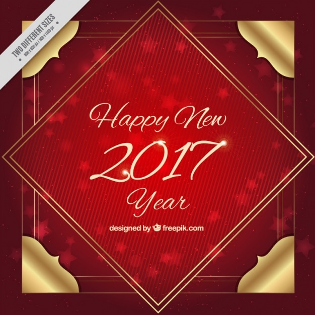 Red background of happy new 2017 year