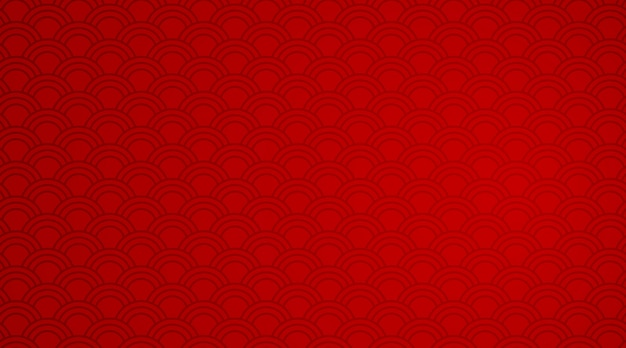 Red background template with wave patterns Free Vector
