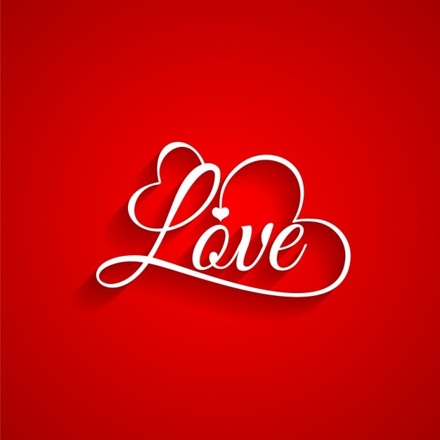 Red background of valentine Free Vector