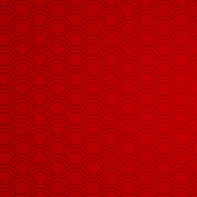 Красный фон с абстрактными узорами Бесплатные векторы