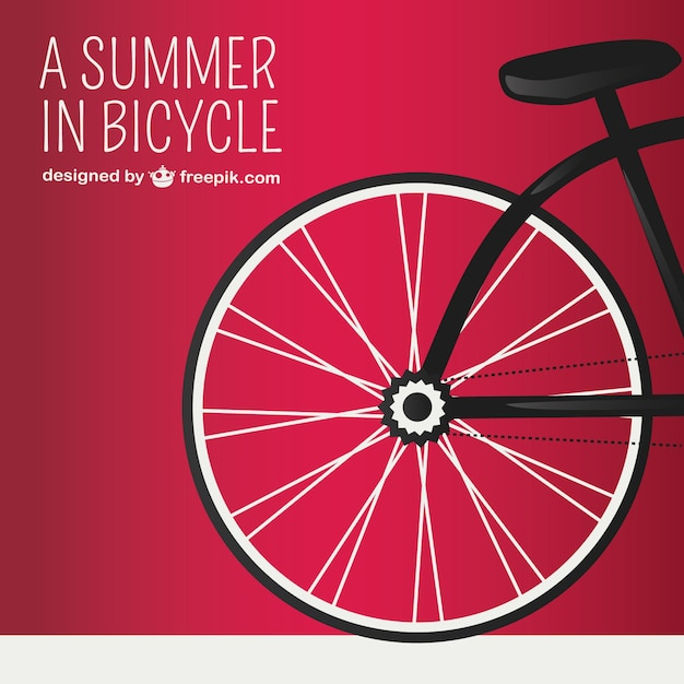 Red background with bicycle wheel Vector | Free Download