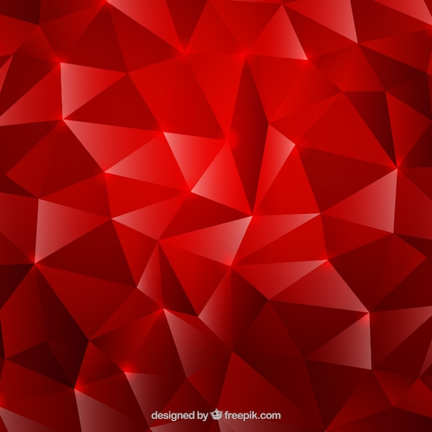 Red background with diamond effect Vector Free Download