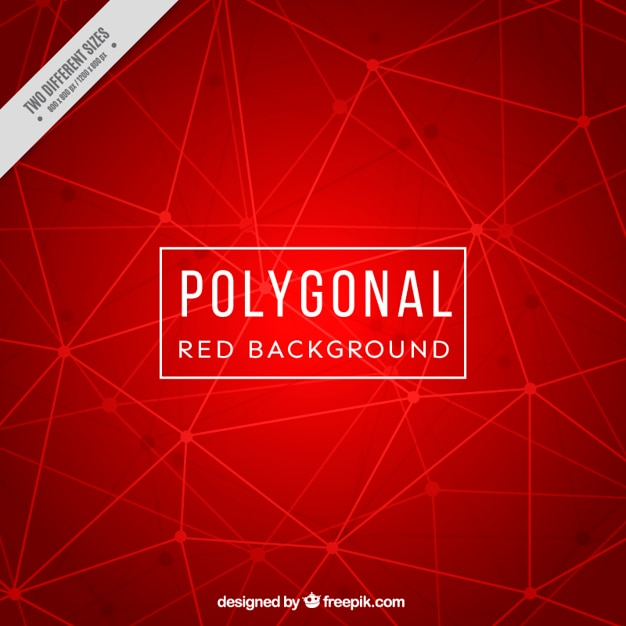 Red background with lines and dots Free Vector