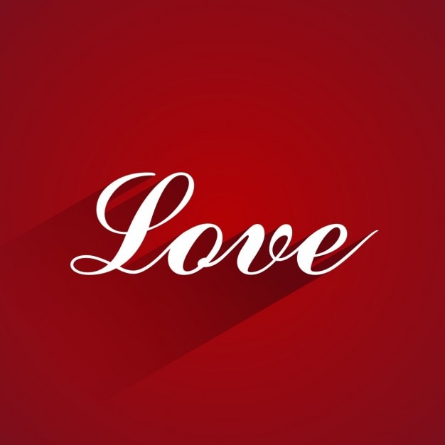Red background with love word