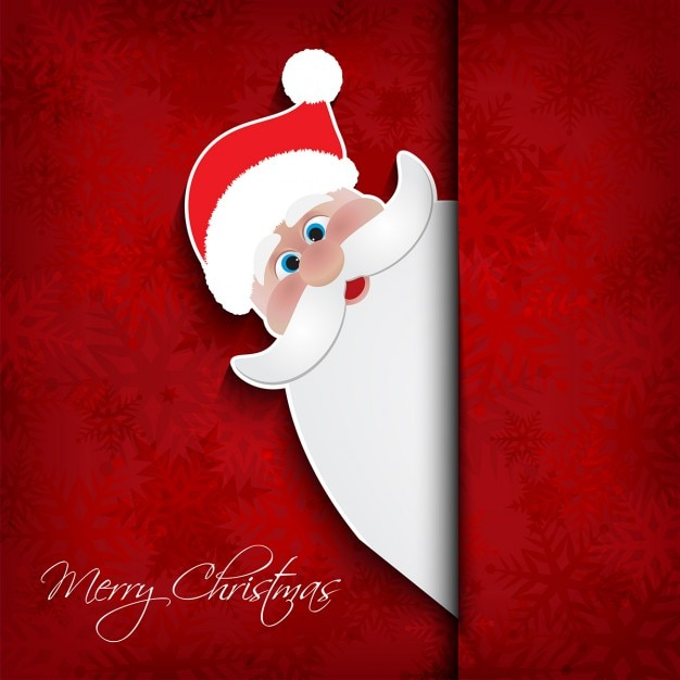 Red background with santa claus