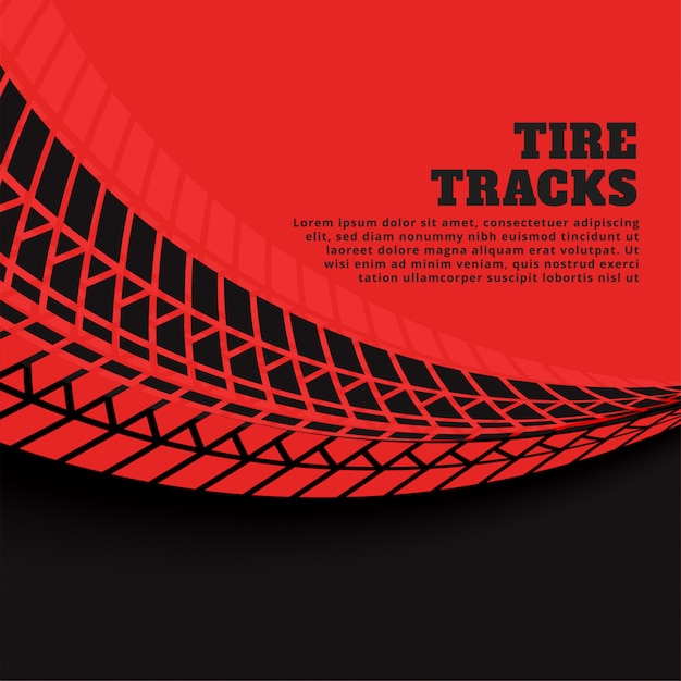 Red background with tire track prints Free Vector