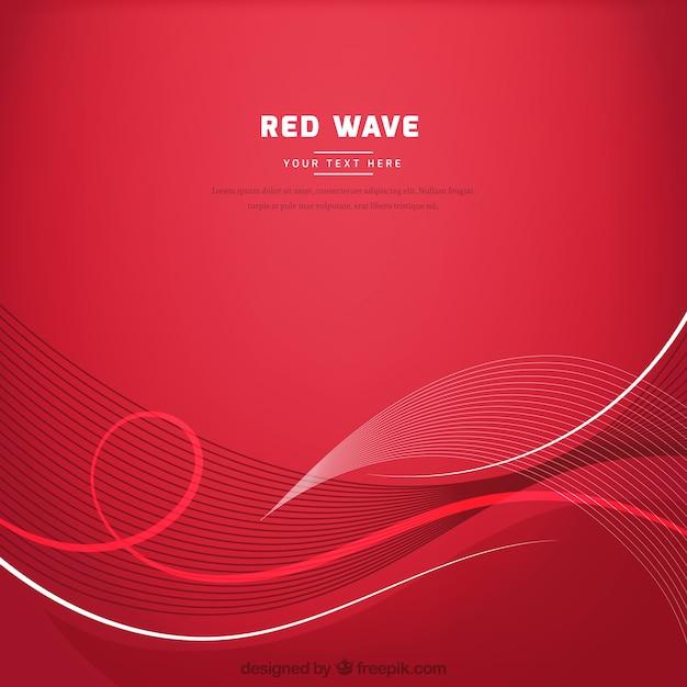 Красный фон с волнистым стилем Бесплатные векторы