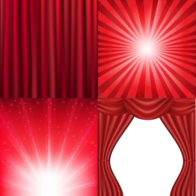 Red background Premium Vector
