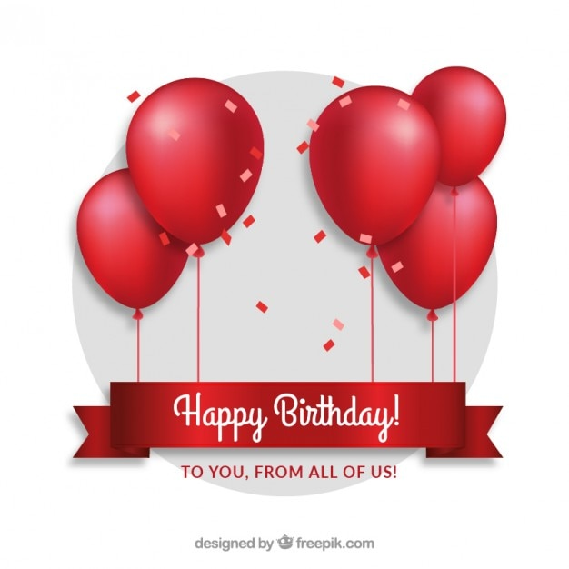 Red Balloons Birthday Card Stock Images Page Everypixel