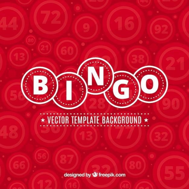 Red bingo background Free Vector