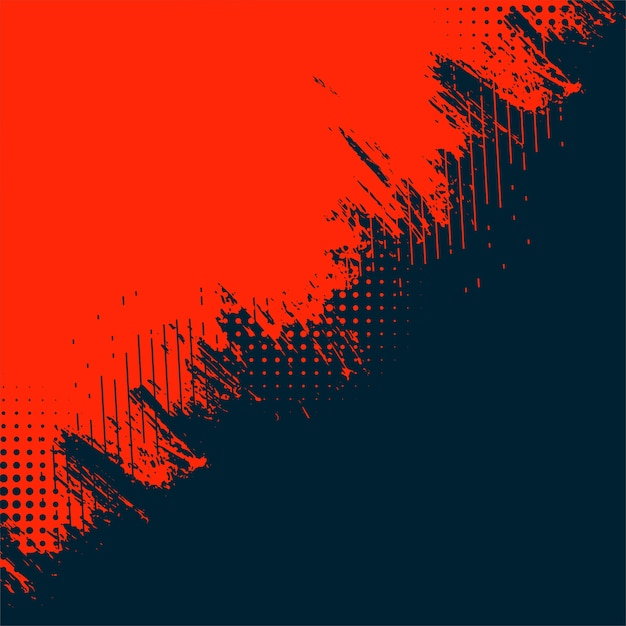 Red and black abstract grunge texture background Free Vector