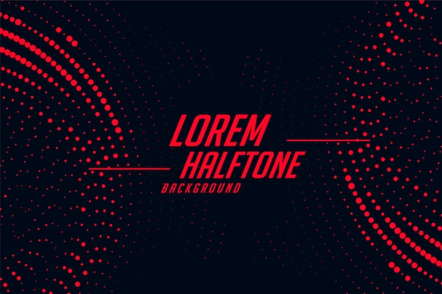 Red and black circular halftone abstract background Free Vector