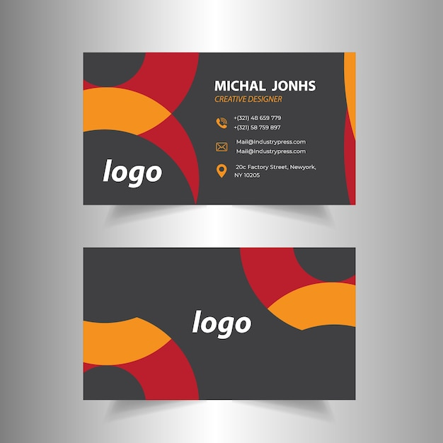 Red black creative business card design vector premium download red black creative business card design premium vector reheart Images
