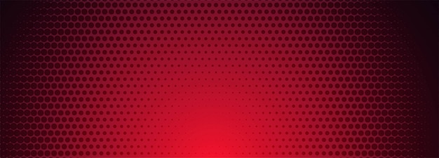 Red and black halftone pattern banner background Free Vector