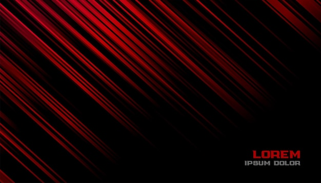 Red and black motion lines background design Free Vector