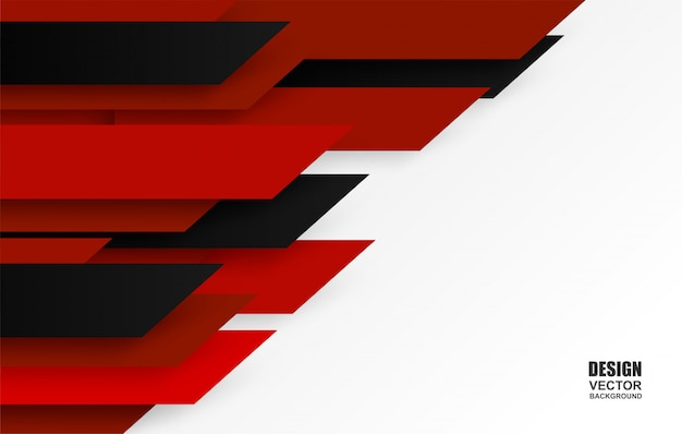 Red and black overlap background. Premium Vector