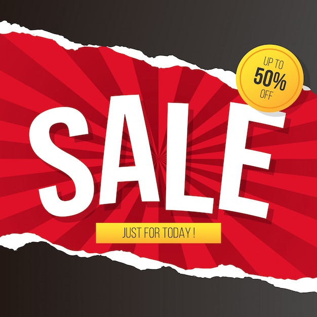 Red & Black Sale Background Free Vector