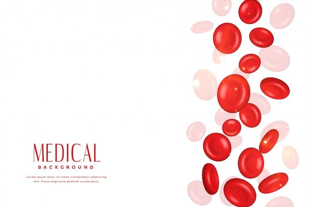 3d 의료 개념 배경에서 적혈구 무료 벡터