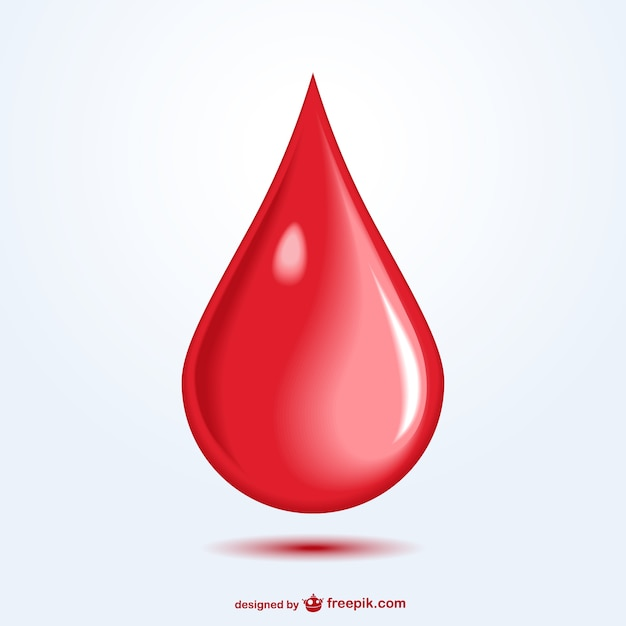 Red blood drop Free Vector