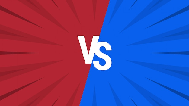 Red and blue abstract versus background Premium Vector